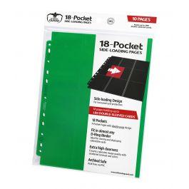 Ultimate Guard 18-Pocket Pages Side-Loading Grün (10)