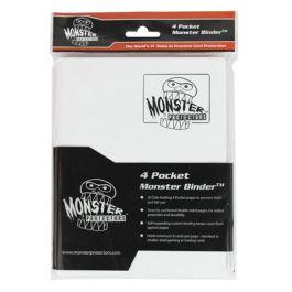 Monster Binder 4 Pocket Matte Weiß