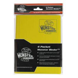 Monster Binder 4 Pocket Matte Gelb