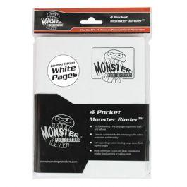 Monster Binder 4 Pocket Weiß mit weißen Hüllen
