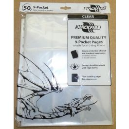 Hüllen für 9 Karten - Side Loading - 50 Stück 9-Pocket Pages
