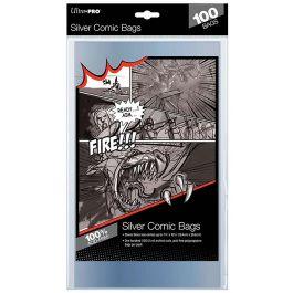 Ultra Pro Comic Bags Silver Size (100 Stück)