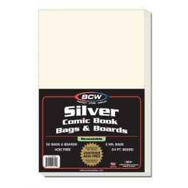 BCW Resealable Silver Comic Bags & Boards (50 St.)