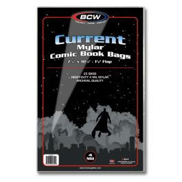 BCW Mylar Current Comic Book Bags 4-MIL (25 St.)