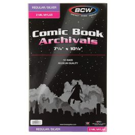 BCW Mylar Current Comic Book Bags 2-MIL (50 St.)
