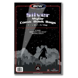 BCW Mylar Silver Comic Book Bags 4-MIL (25 St.)