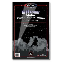 BCW Mylar Silver Comic Book Bags 2-MIL (50 St.)