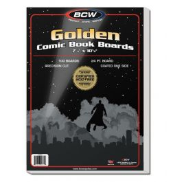 BCW Golden Comic Book Boards 24pt (100 St.)