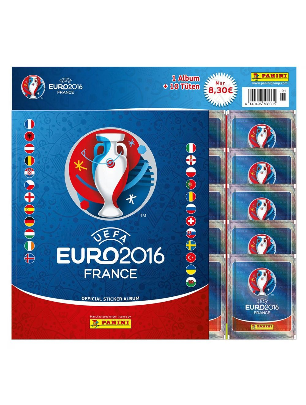 UEFA EURO 2016 Sticker Album + 10 Tüten Starter (DE) - Cardport Collectors'  Shop